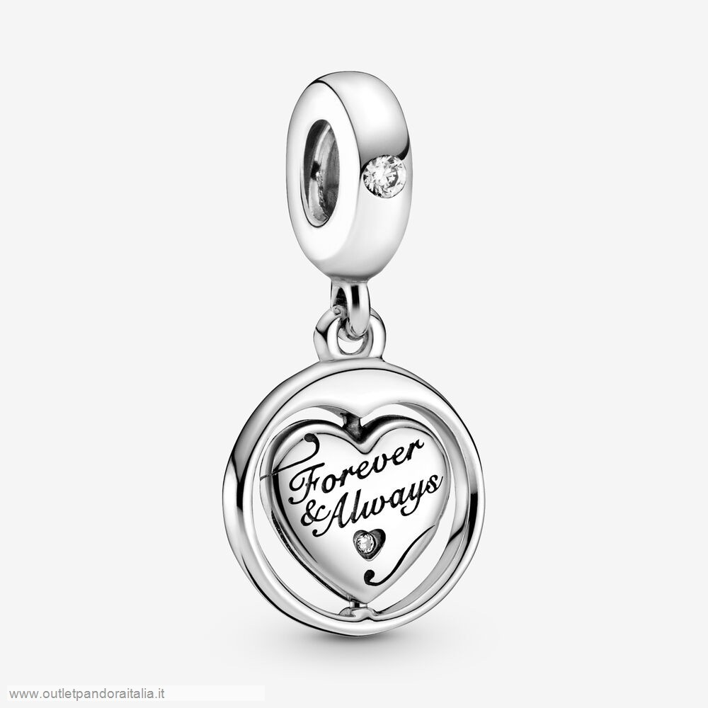 Completa Saldi Pandora Spinning Forever & Always Soulmate Dangle Fascino